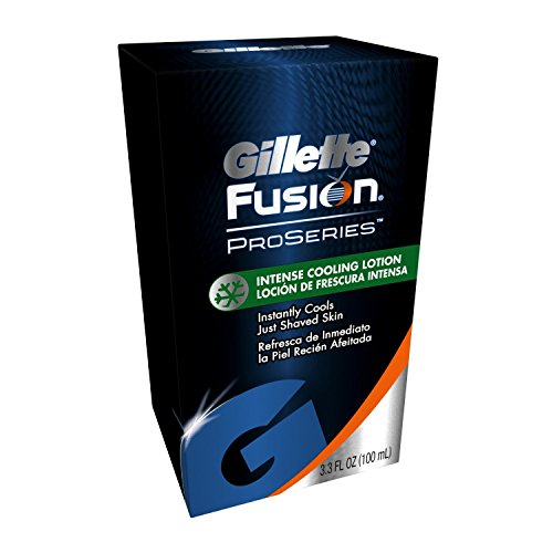 Gillette After Shave Lotion - Gillette FUSION Proseries Intense Cooling Lotion COOLS just shaved skin 3.3 Oz