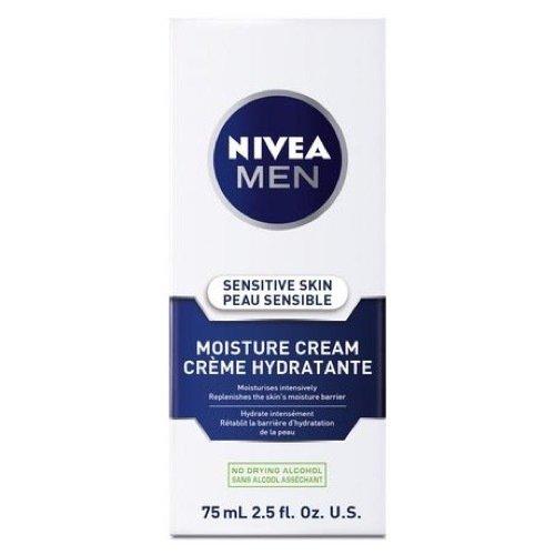 NIVEA MEN Sensitive Skin Face Moisture Cream, 75 mL tube ( Pack of 4) 056594888180
