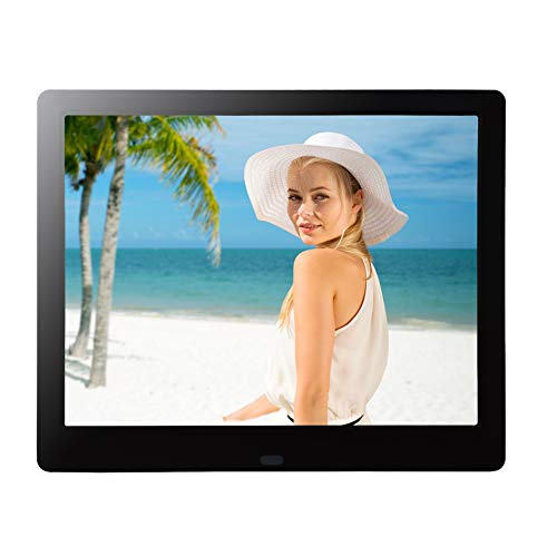 9 Inch IPS 1080P Electronic Photo Frame Full Angle HD Digital Picture Frames USB SD/SDHC Present for Wedding Birthday Christmas- Black