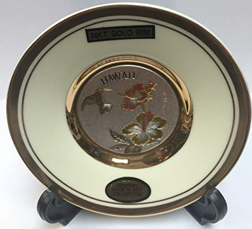 DYNASTY The Art of CHOKIN Fine Porcelain Collectible Plate 24KT Gold Rims (4.5