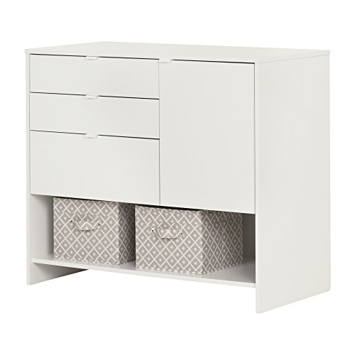South Shore 10490 Crea Pure White Craft Storage Cabinet with Drawers by South Shore