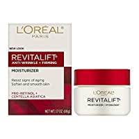 L'Oreal Paris Skincare Revitalift Anti-Wrinkle and Firming Face and Neck Moisturizer with Pro-Retinol Paraben Free 1.7 oz (Packaging may vary)