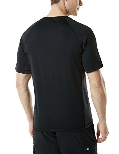 TSLA 1 or 2 Pack Men's Rashguard Swim Shirts, UPF 50+ Loose-Fit Short Sleeve Shirt, UV Cool Dry fit Athletic Water Shirts