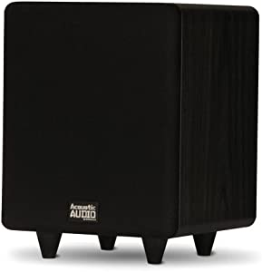 "Acoustic Audio PSW250-6 Home Theater Powered 6.5"" LFE Subwoofer Black Front Firing Sub"