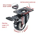 "bayite 4 Pack 2"" Heavy Duty Caster Wheels"