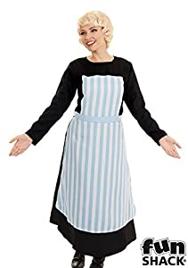 1940s Costumes- WW2, Nurse, Pinup, Rosie the Riveter Swiss Nanny - Adult Fancy Dress Costume - Small - 8-10 by Fun Shack $49.66 AT vintagedancer.com