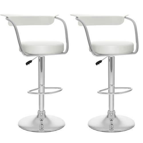CorLiving B-117-UPD Bar Stool, White