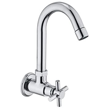 10X Sink Tap Goft Swivel Spout Chrome Plated Foam Flow 15mm, Sink Cock, Bathroom Fittings, Taps