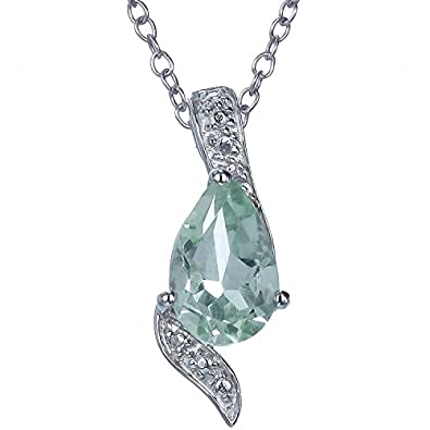 shell amethyst fancy sterling green carats pendant silver peora cut