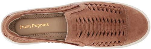 Hush Puppies Womens Gabbie Woven Slip On Tan Mocassino
