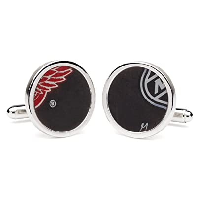 Tokens & Icons NHL Game Used Hockey Puck Cufflinks - Round (61-NHL-P)