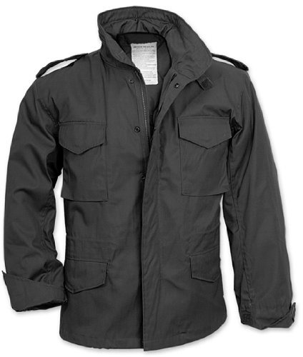 Rothco M-65 Field Jacket, Black, Large by Rothco