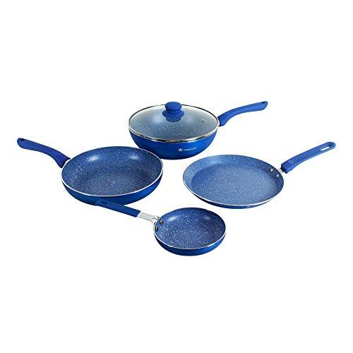 Wonderchef Royal Velvet Induction Base Aluminium Cookware Set With Free Mini Frying Pan, 4-Pieces