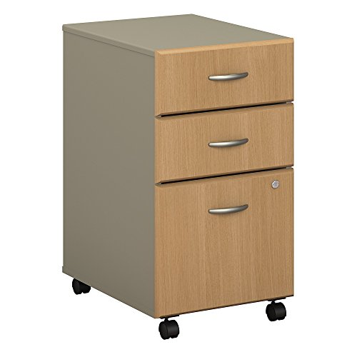Drawer Oak Hutch 2 (Bush Business Furniture Series A 3 Drawer Mobile File Cabinet in Light Oak and Sage)