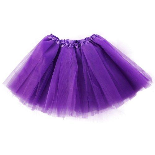 Pettiskirt Violet 3 Organza D'lastique Mini Femme Couleurs Couche Imixcity Jupe 12 Robe 1xqapZ