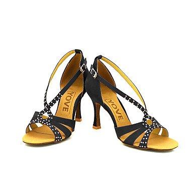 baile Personalizables de Zapatos Amarillo Personalizado Salsa Red Negro Rojo Latino Tacón qF5P50n