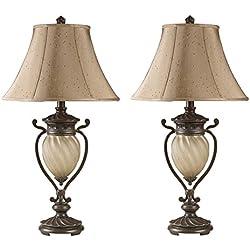 Ashley Furniture Signature Design - Gavivi Table Lamps - Set of 2 - Dark Brown