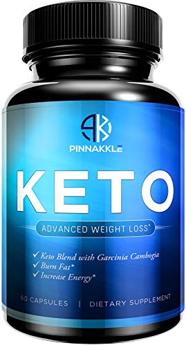 Keto Diet Pills by Pinnakkle | Advanced Keto Weight Loss Supplement | Ketogenic Fat Burner | Burn Fat Instead of Carbs | Ketosis Supplement | Supports Healthy Weight Loss | 30 Day Supply by Pinnakkle