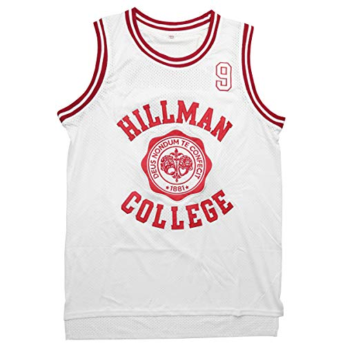 Shirts College Basketball - kobejersey Wayne #9 Hillman College Theater Basketball Jersey S-XXXL (White, S)