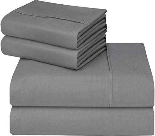 Utopia Bedding 4-Piece Queen Bed Sheets Set (Grey) (Bedding Sets Grey)