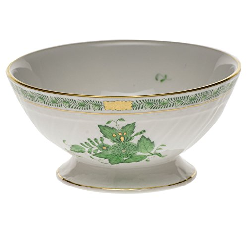 Herend Chinese Bouquet Green Footed Bowl