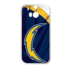 RAROFU New Style San Diego Chargers Custom Case for HTC One M8 (Laser Technology)