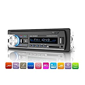 Bluetooth Car Stereo Receiver, Single Din Car Radio, Dansrueus Universal Car Stereos Audio In Dash FM Radio Receiver MP3 Player/USB/SD Card/AUX with Remote Control