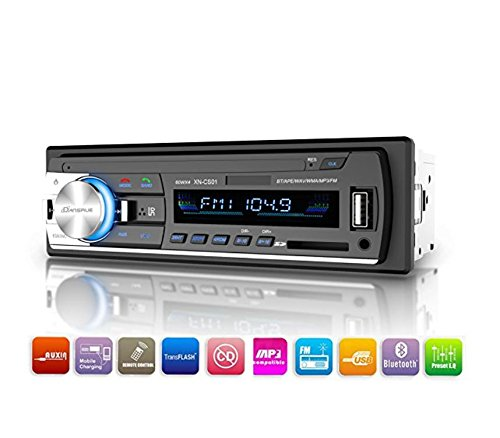Bluetooth Car Stereo Receiver, Single Din Car Radio, Dansrueus Universal Car Stereos Audio In Dash FM Radio Receiver MP3 Player/USB/SD Card/AUX with Remote Control