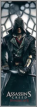 Gaming Door Poster//Print Assassins Creed: Syndicate Size: 21 inches x 62 inches Big Ben