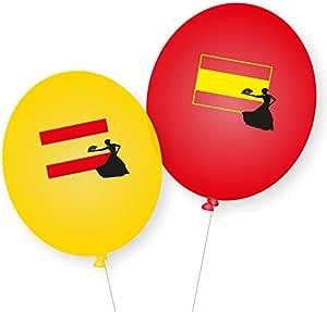 Spanien-Party: 8 Globos * España * como decoración para Fiesta temática, Fiesta de países y cumpleaños Juego de Globos Madrid Barcelona: Amazon.es: Juguetes y juegos