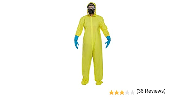 Adults Bad Chemist Fancy Dress Costume Includes Jumpsuit, Mask ...