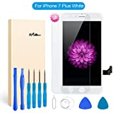 for iPhone 7 Plus Screen Replacement - LCD Display 3D Touch Screen Digitizer Frame Full Assembly with Repair Tool Kits and Screen Protector (White 5.5 Inch)