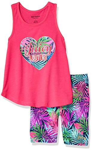 Fifties Dress Up Ideas (Juicy Couture Girls' Big 2 Pieces Shorts Set, Hot Pink,)
