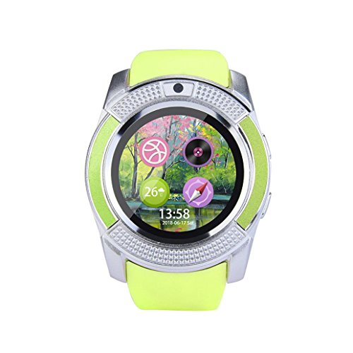 Sets Clock Display,2 Way Anti-lost,With GSM 2G SIM LCD Display for Kids Women Men, Mate For IOS Android Smartphone (Green) ()