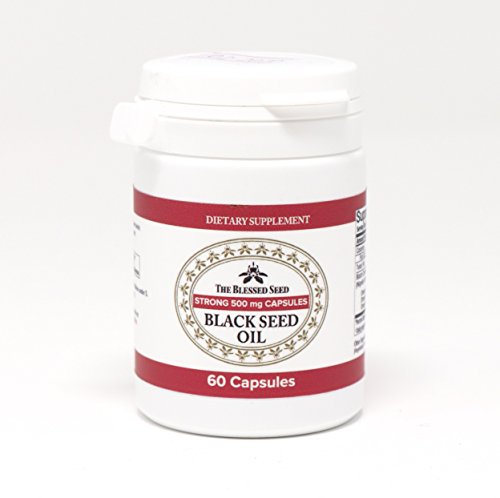 The Blessed Seed Strong Black Seed Oil Capsules 60x500g Capsules by The Blessed Seed