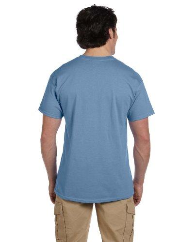 (Hanes Adult ComfortBlend EcoSmart T-Shirt, Stonewashed Blue, M ( Pack of 3 ))