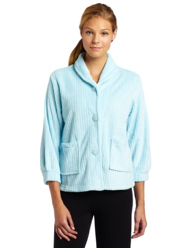 casual-moments-womens-bed-jacket-with-shawl-collar-light-aqua-medium
