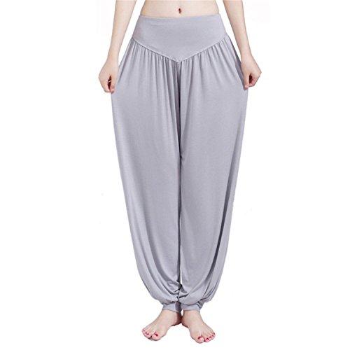 Rankei Worem Pantalon Femme Dance Pant Women Bloomers,Large,LightGray