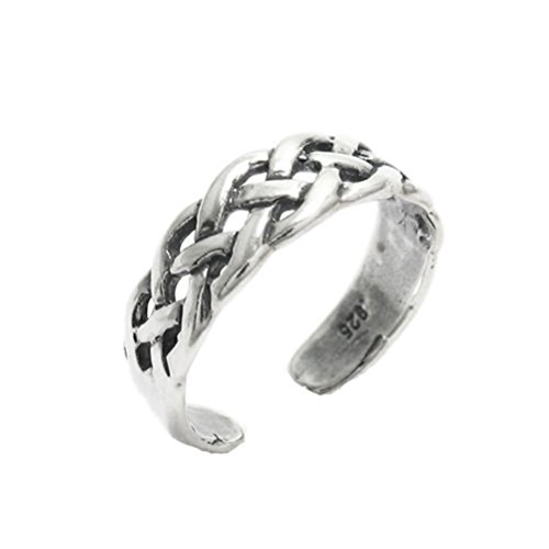 SANDRA Fashion Design silver-tone Intertwined Vine Toe Ring