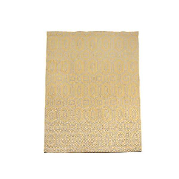 41ReekU1NvL CC Teppich In-Outdoor Wetterfest Gelb-Beige 60x230cm Oeko-Tex Standard 100% Polypropylen Allergiker geeignet