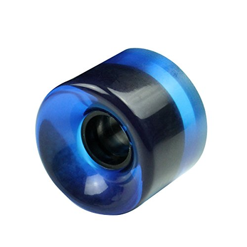 Eprocool Skateboard Wheel PU 60mm x 45mm 80A (4pcs) (Clear Blue, 60mm x 45mm (80A))
