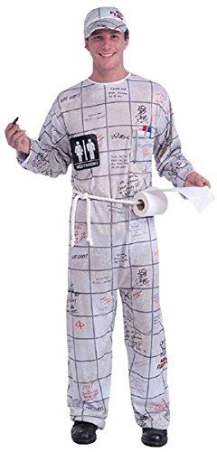 Forum Novelties Men's Bathroom Wall Guy Costume, Multi, One Size