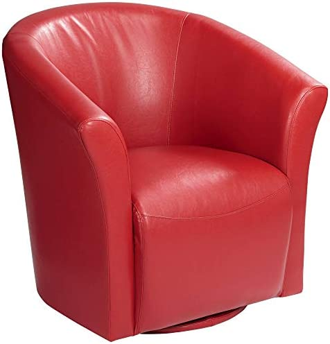 Reviewed: Rocket Rivera Red Swivel Accent Chair