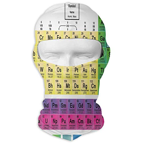 Balaclava Color Printable Periodic Table Great Windproof Ski Mask Skiing for Youth ()