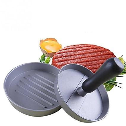 Baiter Manual Presión hamburguesas hecho en casa antiadherente Carne Hamburguesa hacer molde ideal para barbacoa