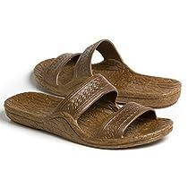 Pali Hawaii Womens Adult Classic Black Jandals Sandals