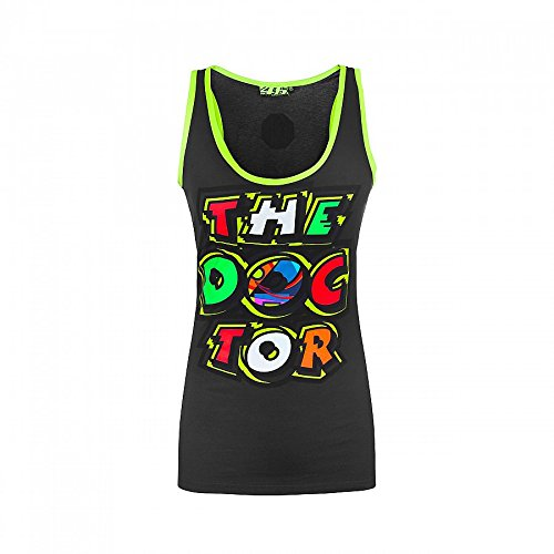 Valentino Rossi VR46 Moto GP The Doctor Women's Grey Tank Top Official - Top Valentino