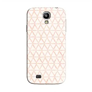 Cover It Up - Triangle Print Orange Galaxy S4 Hard Case