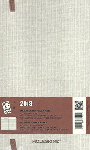 Moleskine Cuaderno y calendario de la semana, Alicia en el país de las maravillas, 18 meses, 2017/2018, Hard Cover, color Weiß/Koralle L