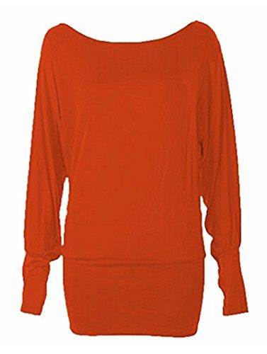 RR Designs - Camiseta de manga larga - para mujer Herrumbre